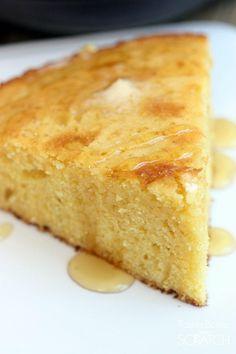 The BEST (and easiest!) Skillet Cornbread recipe! On TastesBetterFromScratch.com