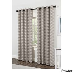 Baroque Grommet Top 84 inch Curtain Panel Pair | Overstock.com Shopping - Great Deals on Curtains