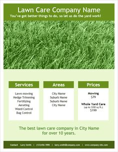 lawn care flyers templates free all about letter ideas for letter sample - Lawn Care Flyer Template Free