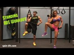 Standing ABS Workout - Building six-pack -- Reducing waistline. www.spin-fit.com