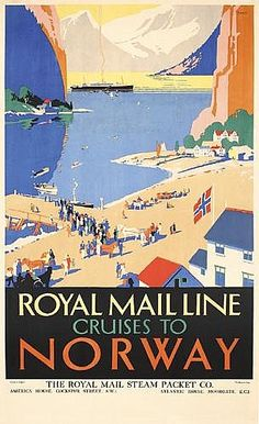 Padden, Daphne Royal Mail Line Cruises To Norway Offset ca. 1930 39.3 x 24 in. (100 x 61 cm) Printer: The Baynard Press