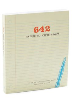 I love these types of things. Could make a great writer's notebook.