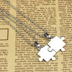 """24"""" Autism puzzle piece necklace necklaces"""