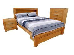 NEW BAKE ST. QUEEN BEDROOM SUITE 4 PCS BRAND NEW SOLID OAK FNBNWBS61