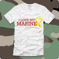 I Love My Marine Heart Ribbon, $21.00