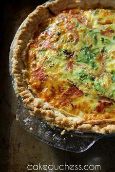 Ham, Goat Cheese and Vidalia Onion Tart | Cake Duchess
