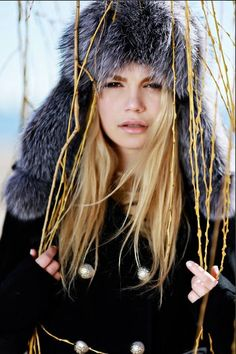 A popular Russian style winter hat known as the Ushanka.  This listing is for a beautifully designed and handmade fox fur hat. A trendy piece that will prove to be one of the warmest head accessories you have ever purchased.