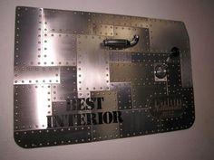 Ryans Sheetmetal Designs   Cool looking award for best interior. door panel.
