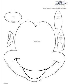 Resultado de imagem para rosto mickey molde Mini Y Mickey, Mickey And Minnie Cake, Mickey Party, Felt Crafts Diy, Vinyl Crafts, Felt Diy, Paper Crafts, Mickey Mouse Template, Mickey Mouse Crafts