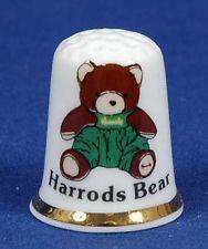 Harrods Bear 'Exclusive' Bone China Thimble B/28.