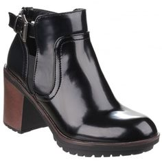 Reese Buckle Fastening Black Boots