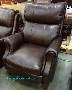 Synergy Home Leather Pushback Recliner. #Costco #FrugalHotspot