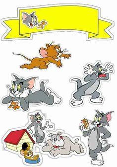 Uau! Veja o que temos para Topo de Bolo de Papel Tom e Jerry