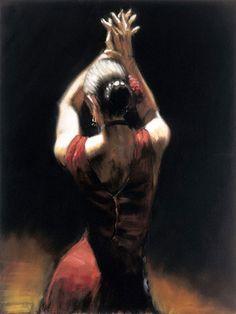 Fabian Perez Flamenco Dancer art Painting 50% off