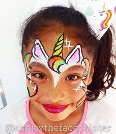 Pin by Cailín Campbell on Face paint Diy Face Paint, Mask Face Paint, Face Painting Unicorn, Unicorn Face, Stone Painting, Body Painting, Easter Face Paint, Christmas Face Painting, Art Visage