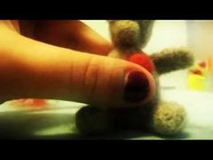 Valentines Day Teddy Bear / Needle Felting Process 3x faster speed