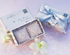 Stamped with Love Scented Soaps - Wedding and Bridal Shower Favor Guest Keepsake Gift