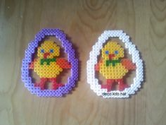 Easter eggs hama perler beads by deco.kdo.nat