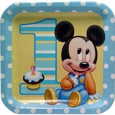 Buy Baby Mickey Birthday Foil Balloon from Tiger Feet Party. This adorable foil balloon is designed with baby Mickey sat next to a large number one First Birthday Party Supplies, Mickey 1st Birthdays, 1st Birthday Balloons, Mickey Mouse 1st Birthday, 1st Birthday Themes, Baby 1st Birthday, 1st Birthday Parties, Birthday Lunch, Blue Birthday