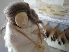 White Buffalo Calf Woman - Contemplative Art Doll, Spirit Being, Figure Sculpture