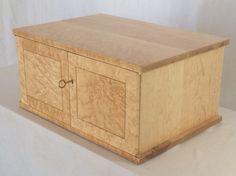 Ten drawer jewelry cabinet in birdseye maple. Home Office Furniture, Fine Furniture, Custom Furniture, Birdseye Maple, Small Cabinet, Jewelry Cabinet, Drawer Dividers, Cabinet Making, Key Lock