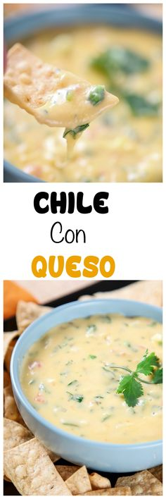 Chile Con Queso Dip: Melty gooey cheese dip that is perfect for Taco Tuesday! Chile Con Queso Dip: Melty gooey cheese dip that is perfect for Taco Tuesday! from scratch, no Velveeta or other processed cheese. Dip Recipes, Mexican Food Recipes, Snack Recipes, Cooking Recipes, Mexican Entrees, Snacks, Yummy Recipes, Best Food Ever, Chile Con Queso
