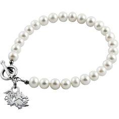 Collegiate University of South Carolina Gamecocks Pearl Bracelet