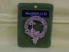 Art Pewter Scottish Clan MacDonald Kilt or Scarf Pin