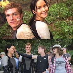 Jen and Josh Divergent Hunger Games, Hunger Games Memes, Hunger Games Cast, Hunger Games Fandom, Hunger Games Trilogy, Divergent Quotes, Juegos Del Ambre, Katniss And Peeta, Katniss Everdeen