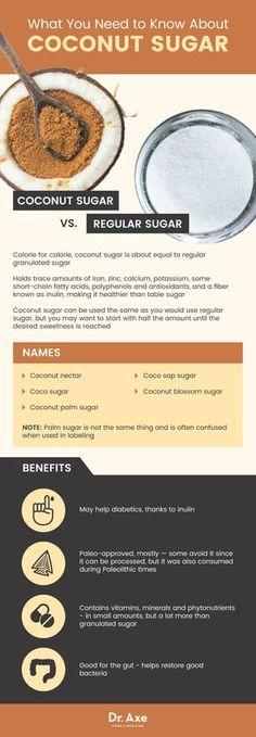 Coconut sugar guide - Dr. Axe http://www.draxe.com #health #holistic #natural