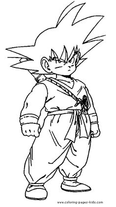printable goku coloring pages for kids | cool2bkids | cartoon ... - Super Saiyan Goku Coloring Pages