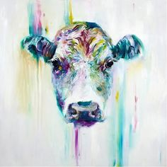 Cow Picture Of Abstract Painting Modern Cuadros Decoracion Wall Christmas Canvas Picture For Home Decor Posters And Prints Gift Cow Painting, Oil Painting On Canvas, Canvas Wall Art, Canvas Prints, Art Prints, Cow Canvas, China Painting, Large Canvas, Acrylic Paintings