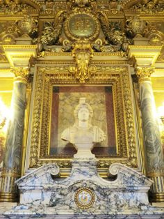 Luxembourg Palace Salle des Conferences #fireplace #Paris www.travelfranceonline.com