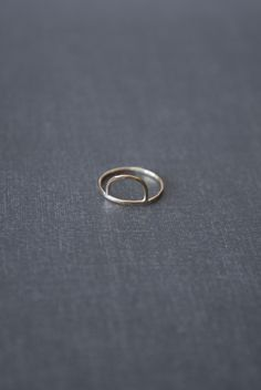 Demi Moon Ring in Gold