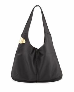 Halston Heritage Leather Sack Hobo Bag