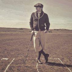 The vintageG. Hickory golf instructional photoshoot. #sports #vintageclothing #vintagestyle #rydercup #georgegankasgolf #ggswingtips…