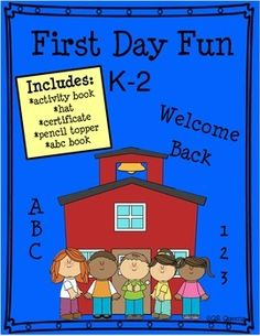 Awesome BACK to SCHOOL Activity Pack for Kindergarten, 1st, or 2nd Grades K-2nd $ QR Queens (65 PAGES)