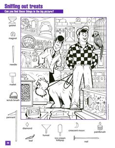Sniffing Out Teats Hidden Picture colroing page Hidden Object Puzzles, Hidden Picture Puzzles, Hidden Objects, Find Objects, Coloring Pages For Kids, Adult Coloring, Colouring, Hidden Pictures Printables, Hidden Images