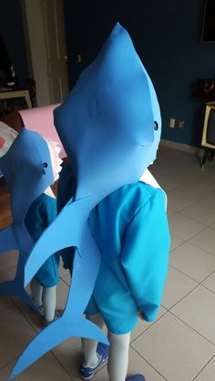 Shark costume Disfraz de tiburon DIY 21bffbbae1f