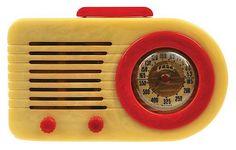 Quintessential catalin radio. Unobtainable when I collected radios -Fada 1000 Bullet Radio American, 1945