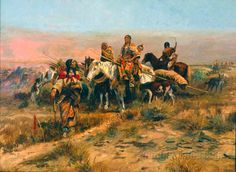 Heading the Right Way by Charles Marion Russell
