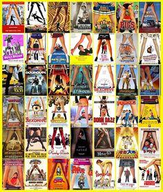 tipos clichês de capas de filmes - Entre pernas femininas