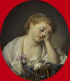 Greuze 1765 Girl with a dead bird  oil on canvas