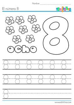 Math Bingo, Number Worksheets Kindergarten, Pre K Worksheets, Alphabet Tracing Worksheets, Numbers Preschool, Free Preschool, Preschool Printables, Teaching Activities, Educational Activities