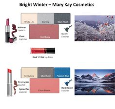 Mary Kay - Bright Winter Looks #1 and #2