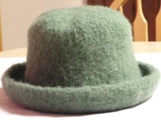 Beautiful and Warm Sage Green Felted  Hat by DesignsbyFredericka, $40.00