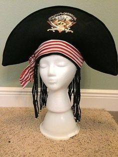 WALT-DISNEY-WORLD-PIRATES-of-The-CARIBBEAN-HAT-BRAIDS-Costume-Halloween