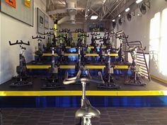 Epic Ryde indoor cycling studio in Denver, Colorado.  Stadium seating and RealRyder bikes.