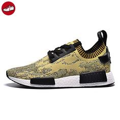 Dadai ® Mens Womens Primeknit Core Black/St Nomad Yellow - Sneakers für  frauen (