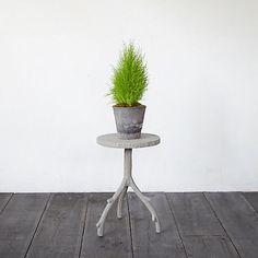Faux Bois Plant Stand, Low